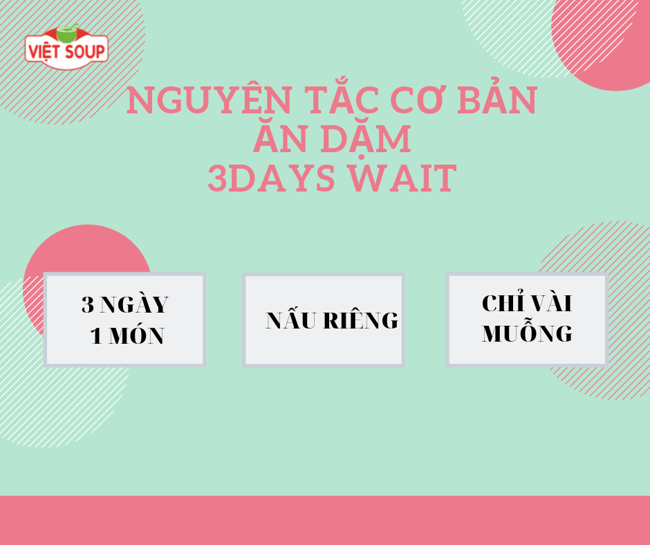 Những điều cần biết về phương pháp ăn dặm 3 day  wait