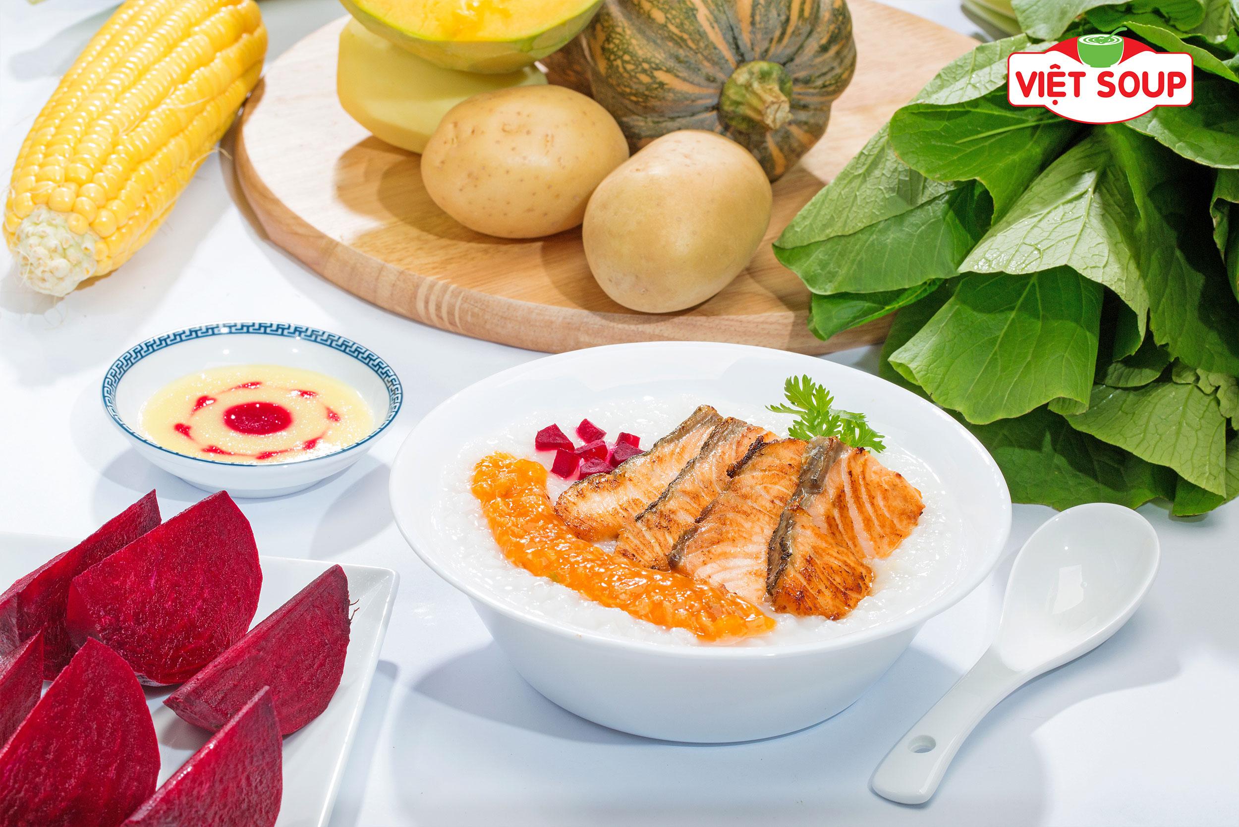 Công dụng và cách nấu món cháo cá hồi
